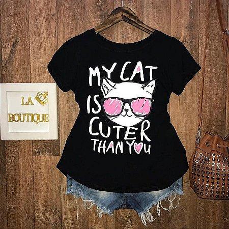 T-shirt Meu Gato é Fofo