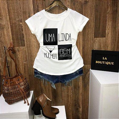 T-shirt Uma Linda Mulher Bem Resolvida
