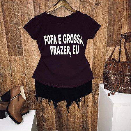 T-shirt Fofa e Grossa