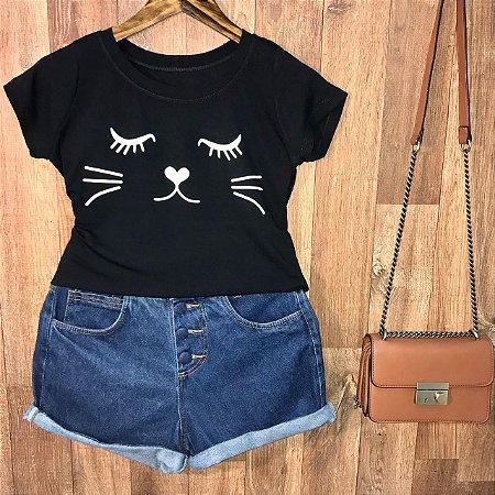 T-shirt Charming Cat
