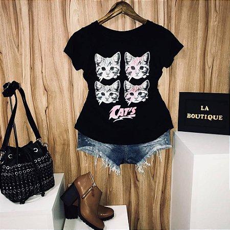 T-shirt Four Cats