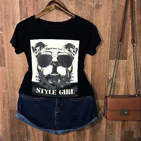 T-shirt Bulldog Style Girl