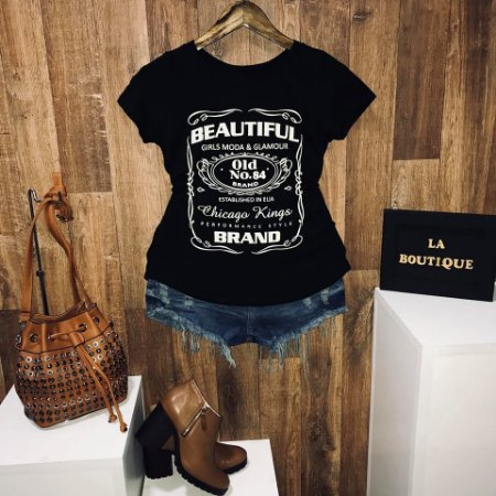T-shirt Beautiful Moda e Glamour