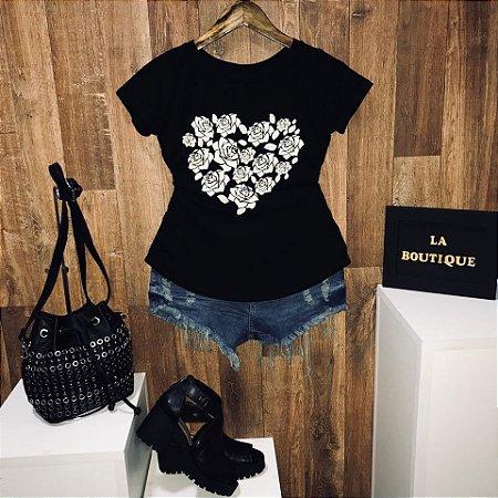 T-shirt Heart of Roses