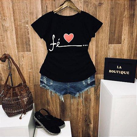 T-shirt Fé no Coração