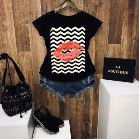 T-shirt Beijo Listrada