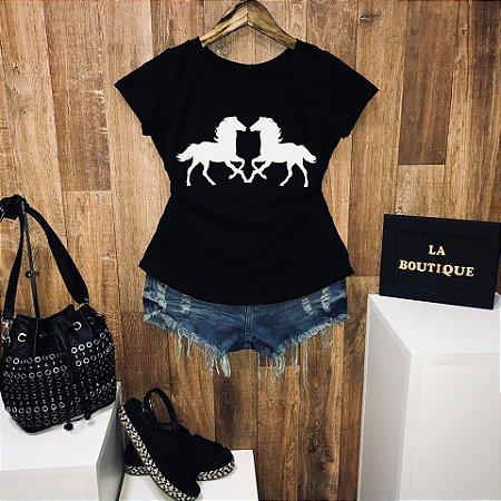 T-shirt Double Horse