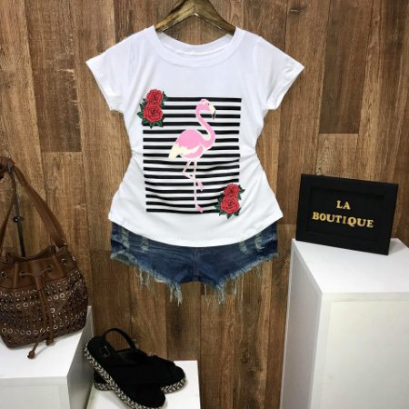 T-shirt Flamingo Floral Listras
