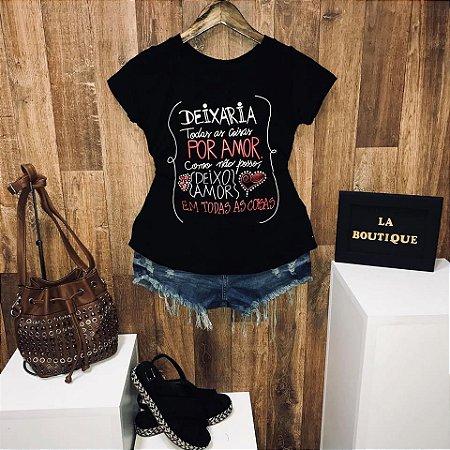 T-shirt Deixo Amor em todas as coisas