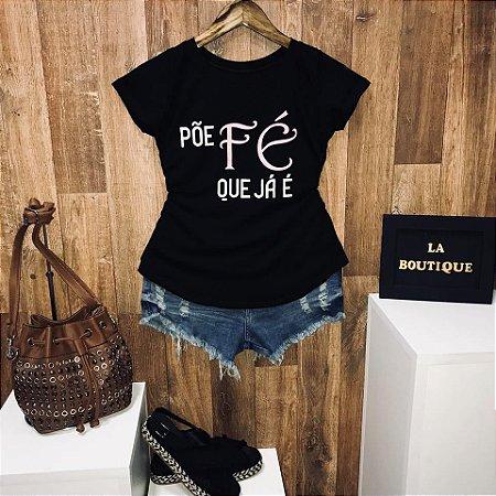 T-shirt Põe Fé