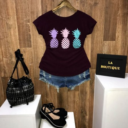 T-shirt Mini Abacaxi