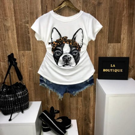 T-shirt Pug Style oncinha