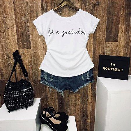 T-shirt Fé e Gratidão