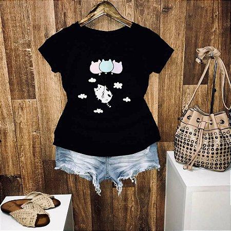 T-shirt Gatinho Aventureiro
