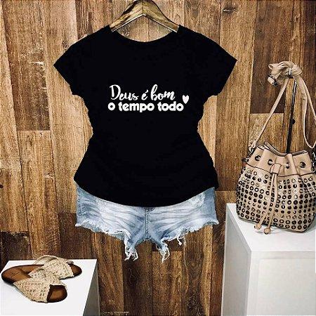 T-shirt Deus é Bom o Tempo Todo S2