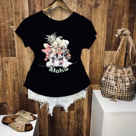 T-shirt Aloha Pug