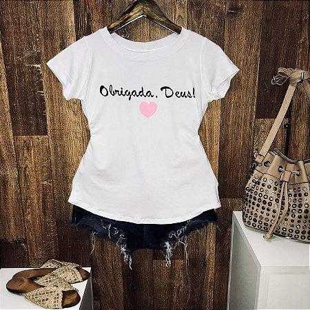 T-shirt Obrigada Deus!