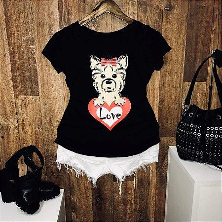 T-shirt Heart Love Dog