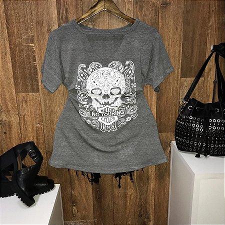 T-shirt Shocker Caveira Cinza GG