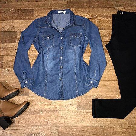Camisa Jeans Fashion Azul