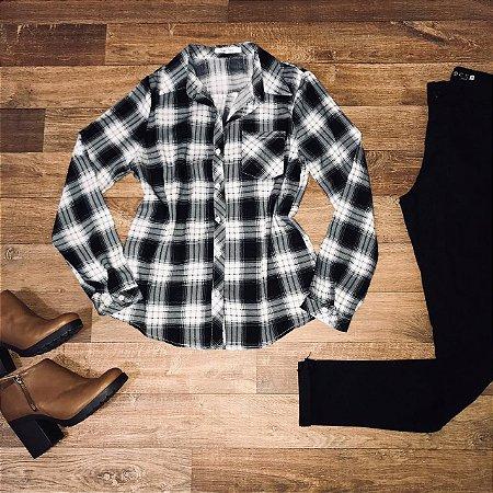 Camisa Xadrez Top Black e White