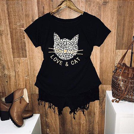 T-shirt Love E Cat