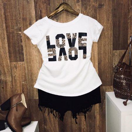 T-shirt Two Love Animal Print