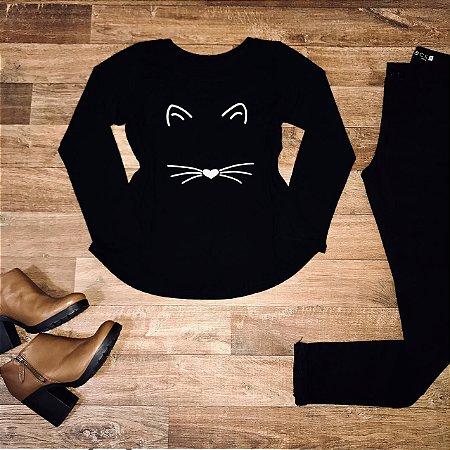 T-shirt Manga Longa Cat