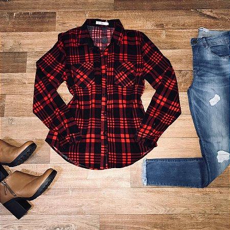 Camisa Xadrez New Black e Red