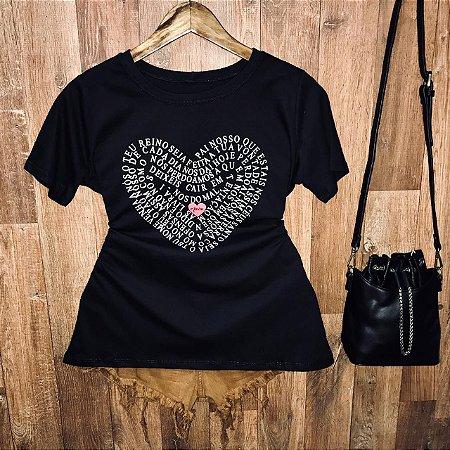 Camiseta Pai Nosso em Coração