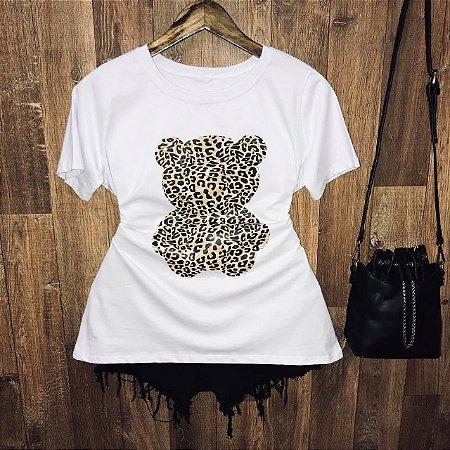 Camiseta Ursinho Animal Print