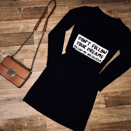 Vestido Dont Follow Your Dreams Black