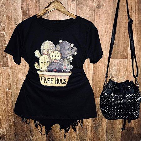 Camiseta Cactus Free Hugs