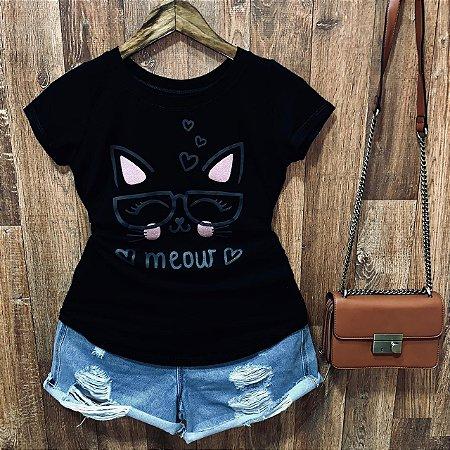 T-shirt Gatinha Meout