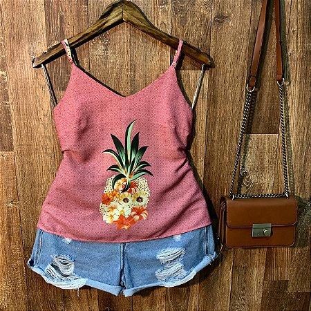 Blusa de Alcinha Abacaxi Rosê