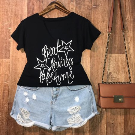 T-shirt Shocker Great Things Black