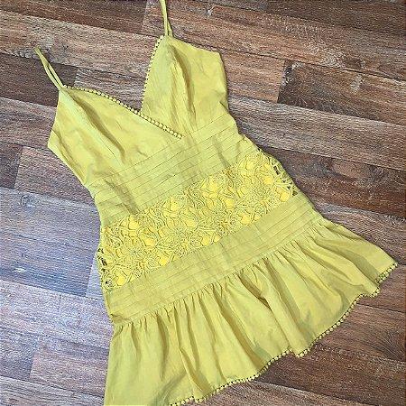 Vestido Curto Top Charme Mariah Amarelo