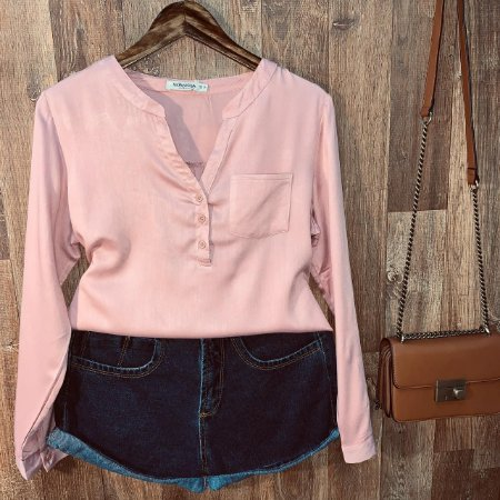 Camisa com Decote Dayane Rosê