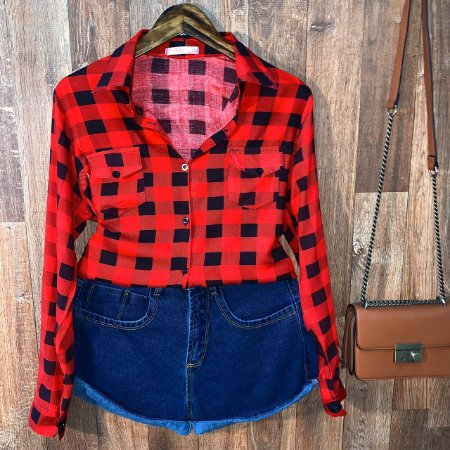 Camisa Xadrez Dayane Red