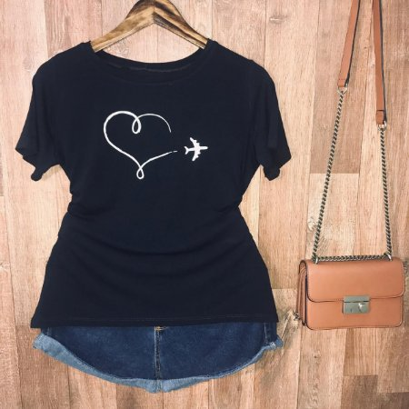 Camiseta Airplane Heart