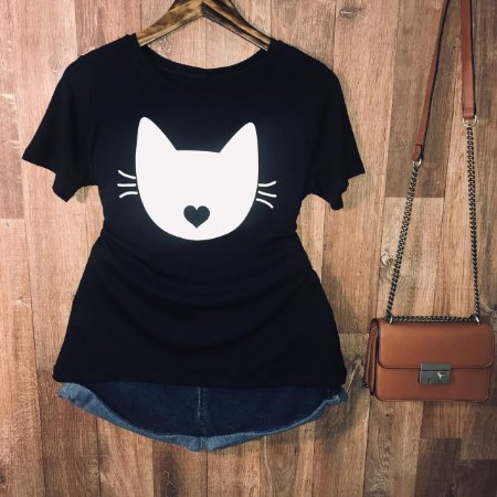 Camiseta Cat with love kiss