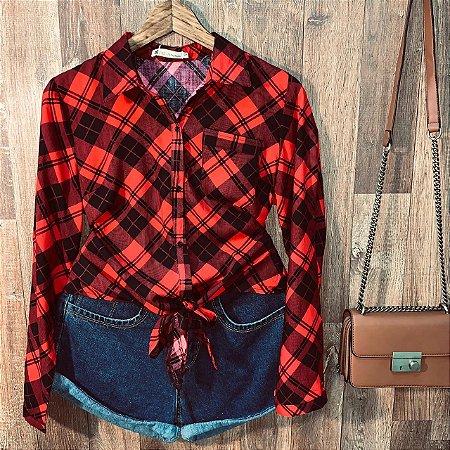 Camisa Xadrez de Amarrar Sarah Red