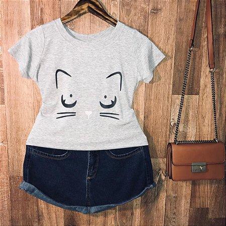 T-shirt Cat Love com glitter