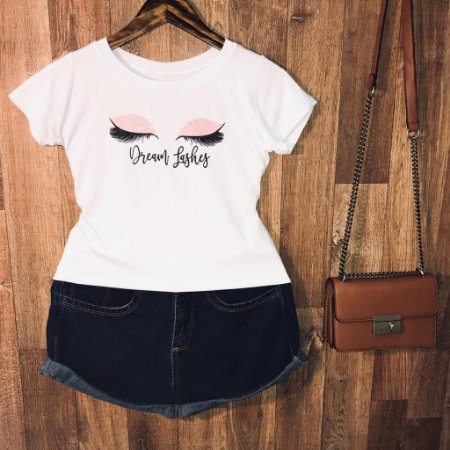 T-shirt Dream Lashes com glitter