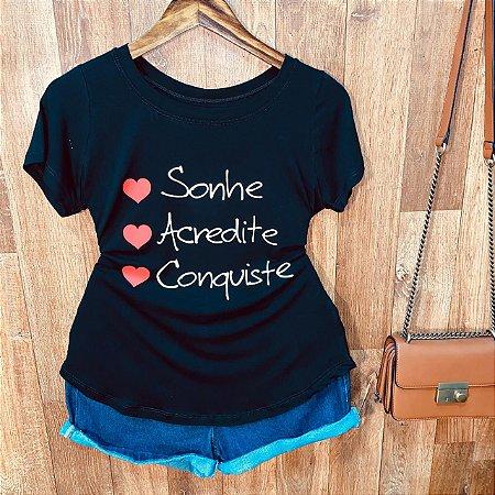 T-shirt S2 Sonhe Acredite Conquiste