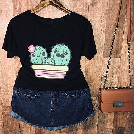 Camiseta Doce Família Cactus