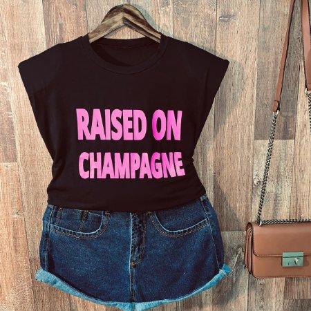 Blusa Muscle Tee com Ombreira Raised of Champagne