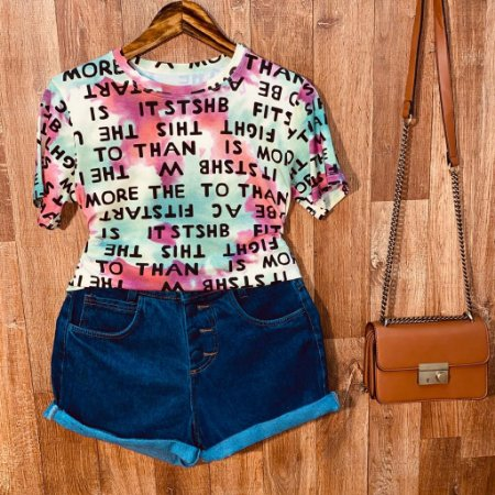 T-shirt Podrinha Letrinhas Tie Dye