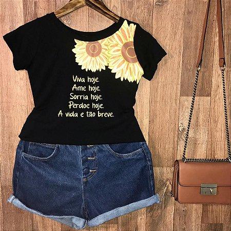 T-shirt Viva Hoje Ame Hoje ...