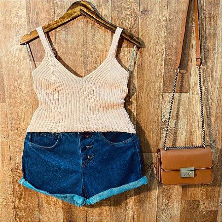Blusa de Alcinha Tricot Modal Tatiana Rosê